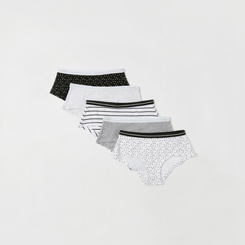 Pack of 5 - Assorted Briefs with Elasticised Waistband