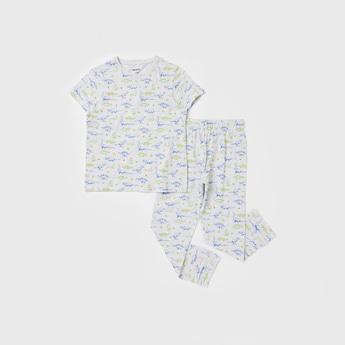 All Over Print T-shirt and Full Length Pyjama Set