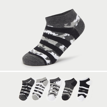 Set of 5 - Camo Print Ankle Length Socks