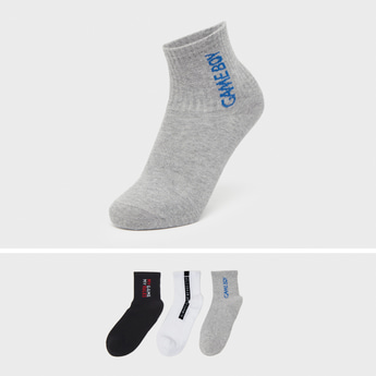 Set of 3 - Gamer Themed Ankle Length Socks