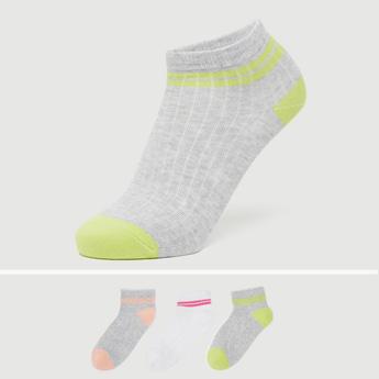 Pack of 3 - Stripe Detail Ankle Length Socks