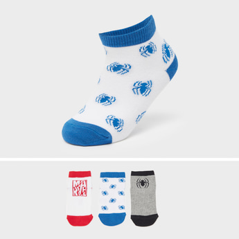 Set of 3 - Spider-Man Themed Ankle Length Socks