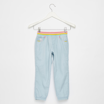 Full Length Solid Joggers with Pockets and Elasticised Waistband