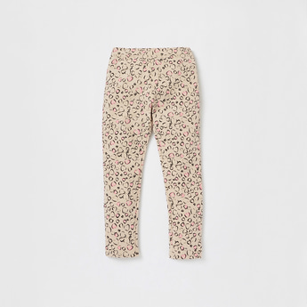 All-Over Print Full Length Jeggings with Elasticated Waistband