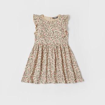 All-Over Print Knee Length Dress