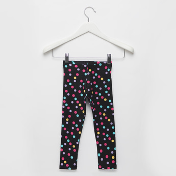 All-Over Spot Leggings with Elasticised Waistband