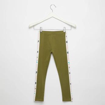 Full Length Side Stripe Detail Leggings with Elasticised Waistband