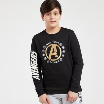 Avengers Graphic Print Sweatshirt with Long Sleeves