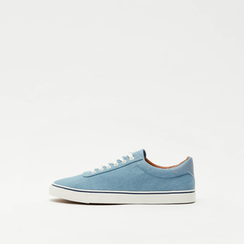 Solid Lace-Up Canvas Shoes