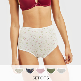 Set of 5 - Assorted High-Rise Full Briefs