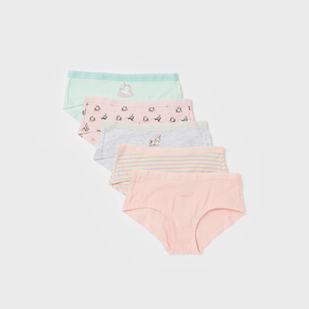 Pack of 5 - Unicorn Print Briefs with Elasticised Waistband