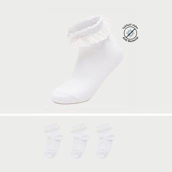 Pack of 3 - Frilled Ankle Length Socks