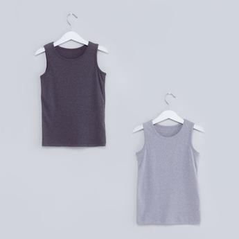 Ribbed Sleeveless Vest - Set of 2