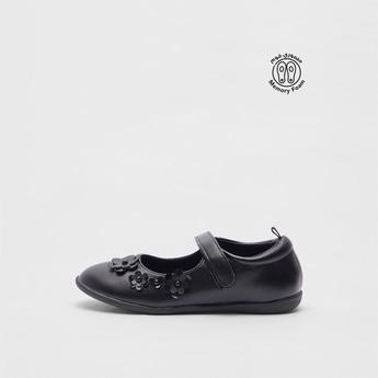 حذاء ماري جين سادة بتزيينات زهرة
