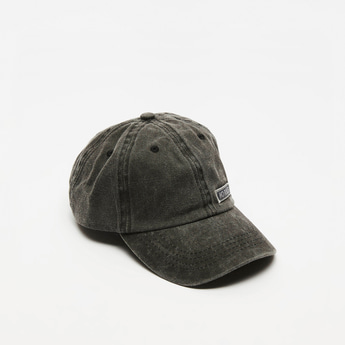 Embroidered Detail Cap with Hook and Loop Closure