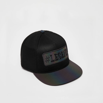 Textured Adjustable Cap with Snap Closure