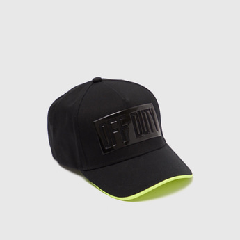 Applique Detail Baseball Cap with Snap Closure