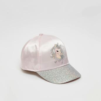 قبعة قابلة للتعديل لامعة بتزينات يونيكورن