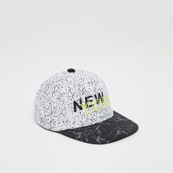All-Over Print Cap with Snap Closure