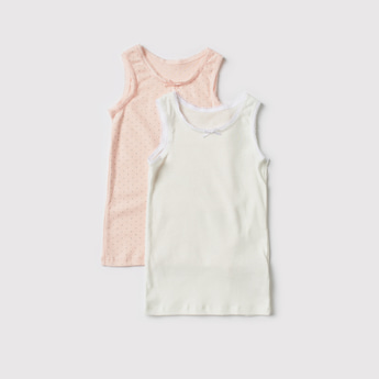 Set of 2 - Assorted Vest with Lace Trim