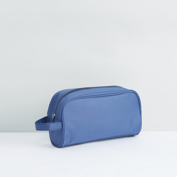 Travel Pouch with Zip Closure and Wristlet