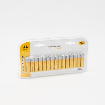 Heavy Duty Battery AA - 30 Pieces