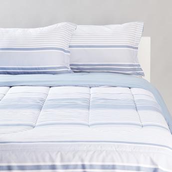 Striped 3-Piece Comforter Set - 230x220 cms