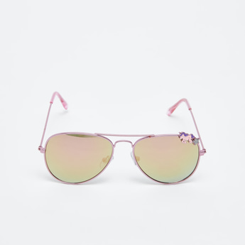 Aviator Sunglasses with Unicorn Detail