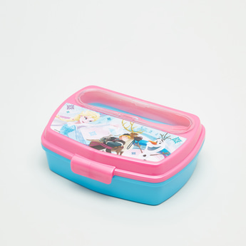 Frozen Print Lunchbox with Fork and Spoon