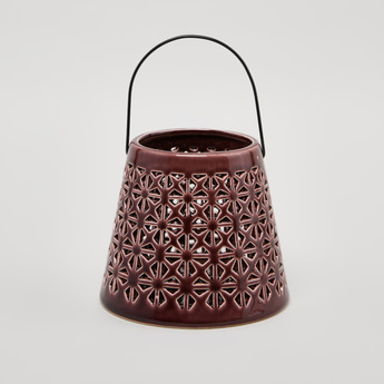 Laser Cut Lantern with Handle - 14 cms