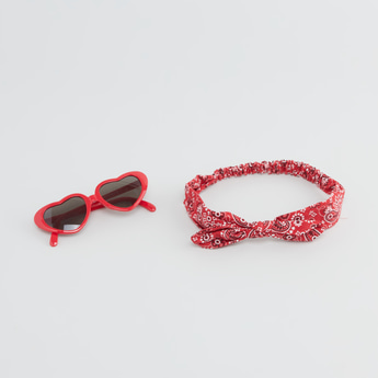 Heart Sunglasses with Printed Headband