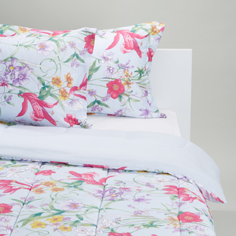 Floral Printed Comforter and 2-Piece Pillowcase Set - 220 x 160 cms