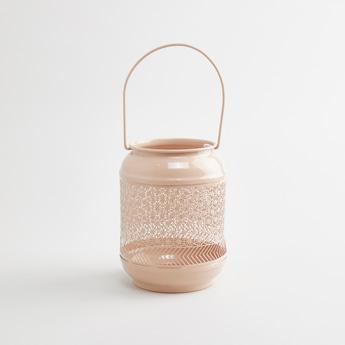 Metallic Lantern with Handle - 12x12x16 cms