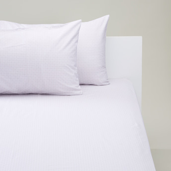 3-Piece Printed Fitted Sheet and Pillowcase Set - 200x150 cms