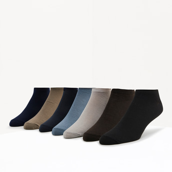 Set of 7 - Ankle Length Socks with Ribbed Hems