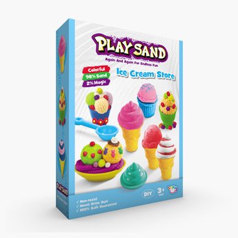 طقم لعبة الرمل السحري