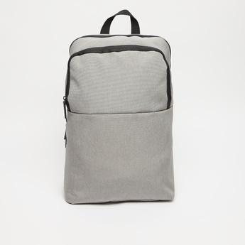 Textured Laptop Bag with Zip Closure