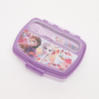 Frozen 2 Print Lunchbox with Spoon and Fork