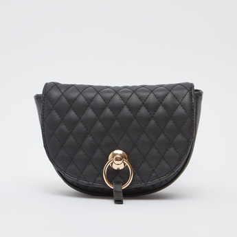 Quilted Satchel Bag with Adjustable Strap