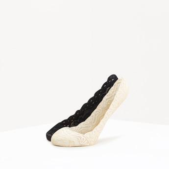 Set of 2 - Textured No Show Socks