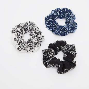 Set of 3 - Printed Elasticised Hair Tie
