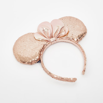 Sequin Embellished Minni Mouse Accented Hairband