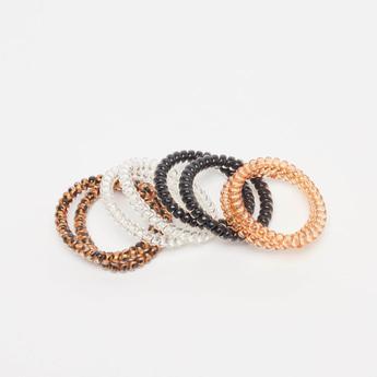 Set of 8 - Assorted Elastic Round Hair Ties