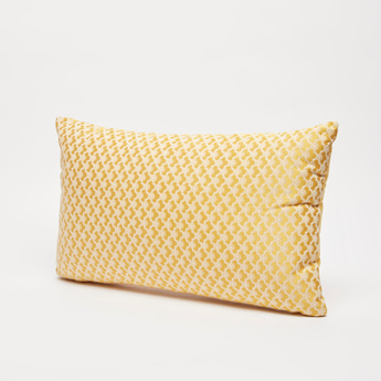 Textured Filled Cushion with Zip Closure - 43x30 cms