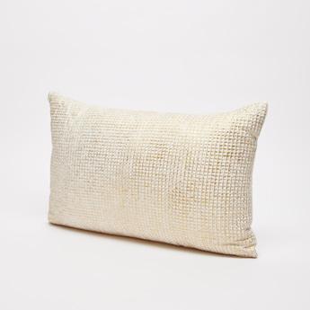 Foil Print Filled Cushion - 50x30 cms