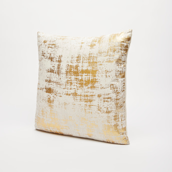 Textured Filled Cushion with Zip Closure - 45x45 cms
