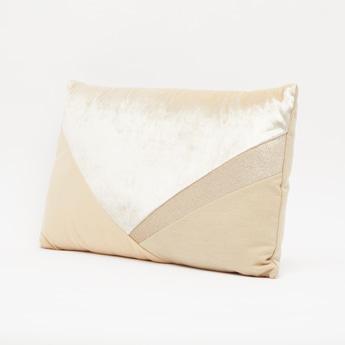 Colour Block Rectangular Filled Cushion - 50x30 cms