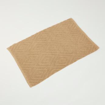 Textured Rectangular Rug - 90x60 cms