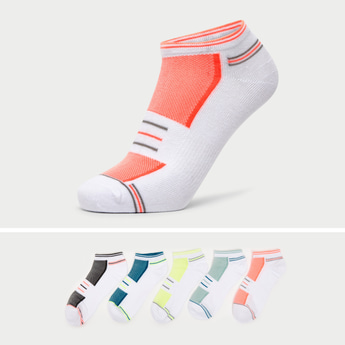 Set of 5 - Textured Ankle Length Sports Socks