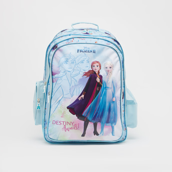 Frozen Print Backpack with Adjustable Shoulder Straps - 18 Inches